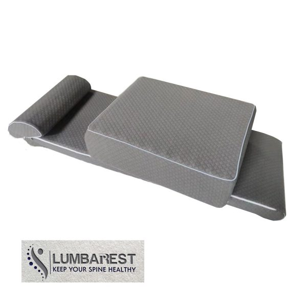 Lumbarest therapeutic mat for back pain relief